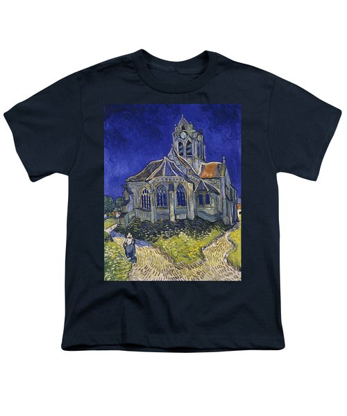 Youth T-Shirt featuring the painting The Church At Auvers by Van Gogh