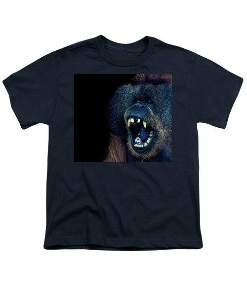 The Laughing Orangutan Youth T-Shirt by Martin Newman