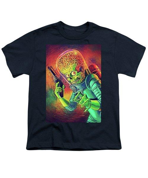 The Martian - Mars Attacks Youth T-Shirt by Taylan Apukovska