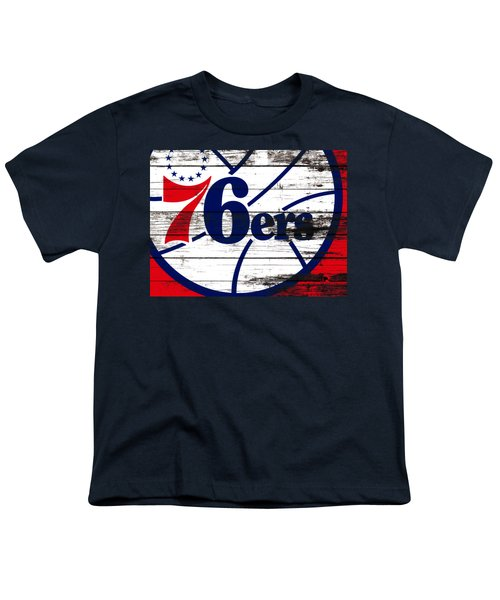 The Philadelphia 76ers 3e       Youth T-Shirt by Brian Reaves