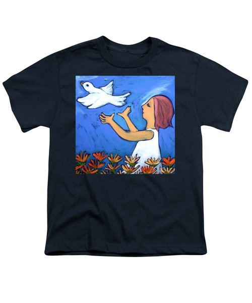 Youth T-Shirt featuring the painting To Fly Free by Winsome Gunning