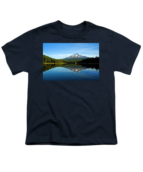Trillium Lake Mt Hood Fall Youth T-Shirt