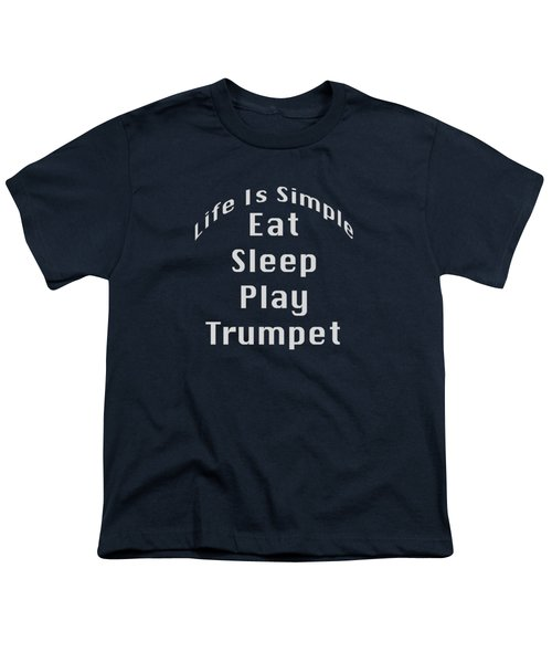 Trumpet Eat Sleep Play Music 5503.02 Youth T-Shirt