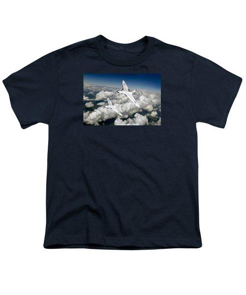 Two Avro Vulcan B1 Nuclear Bombers Youth T-Shirt by Gary Eason
