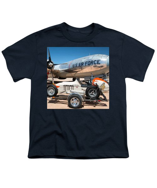 Us Air Force Airplane And Race Car  Youth T-Shirt