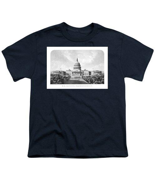 Us Capitol Building - Washington Dc Youth T-Shirt