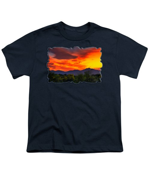 Valley Sunset H32 Youth T-Shirt by Mark Myhaver