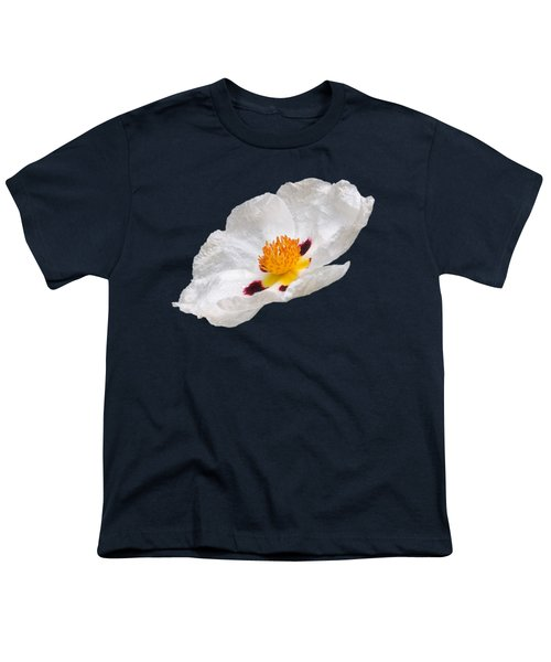 White Cistus Youth T-Shirt by Gill Billington