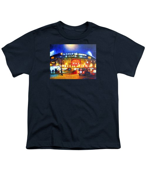 Wrigley Field Home Of Chicago Cubs Youth T-Shirt