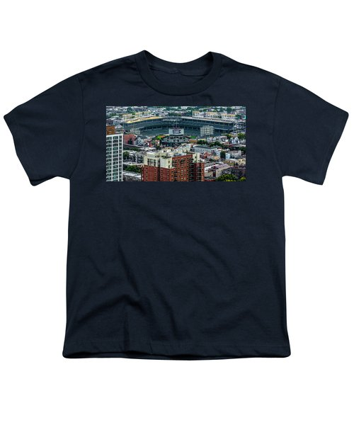 Wrigley Field Park Place Towers During The Day Dsc4743 Youth T-Shirt by Raymond Kunst