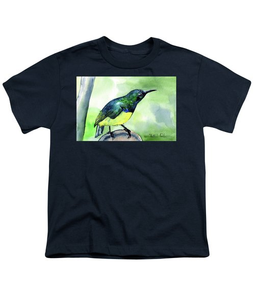 Yellow Bellied Sunbird Youth T-Shirt