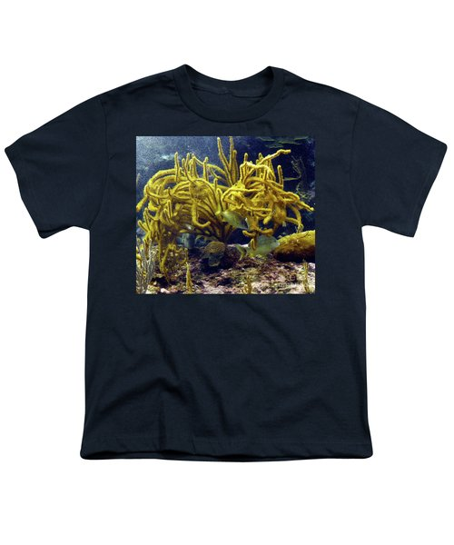 Youth T-Shirt featuring the photograph Yellow Coral Dance by Francesca Mackenney