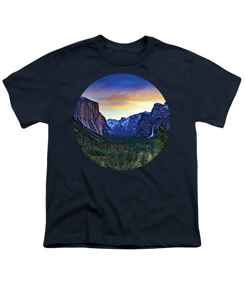 Yosemite Sunrise Youth T-Shirt by Adam Morsa