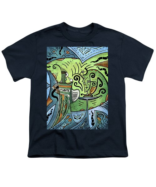 Youth T-Shirt featuring the painting Mystical Powers by Sotuland Art