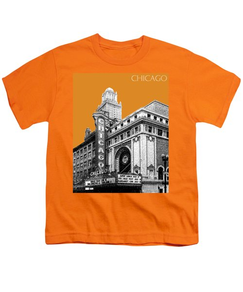 Chicago Theater - Dark Orange Youth T-Shirt