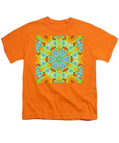 Cosmic Spiral Kaleidoscope 41 Youth T-Shirt by Derek Gedney