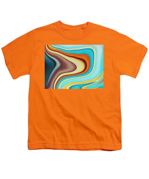 Youth T-Shirt featuring the digital art Green Lava by Mihaela Stancu
