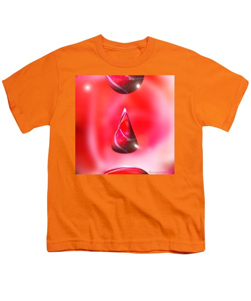 Holiday Droplet - Christmas Rose Youth T-Shirt by Anna Porter