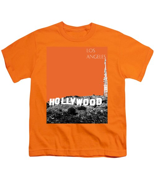 Los Angeles Skyline Hollywood - Coral Youth T-Shirt