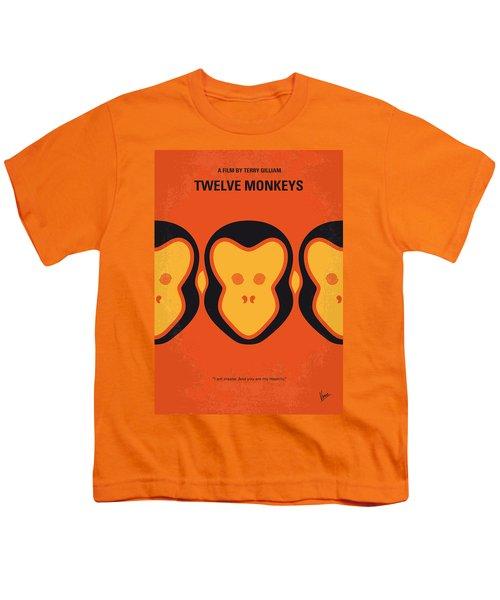 No355 My 12 Monkeys Minimal Movie Poster Youth T-Shirt