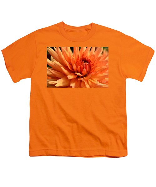 Orange Dahlia Youth T-Shirt