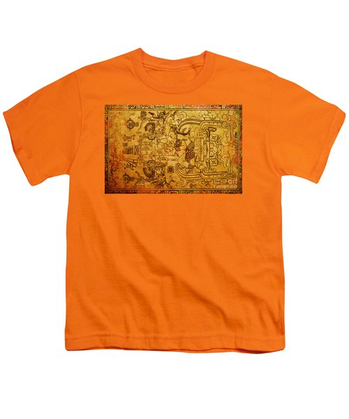 Youth T-Shirt featuring the photograph Pakal Sarcophagus Lid 3 by Gary Keesler
