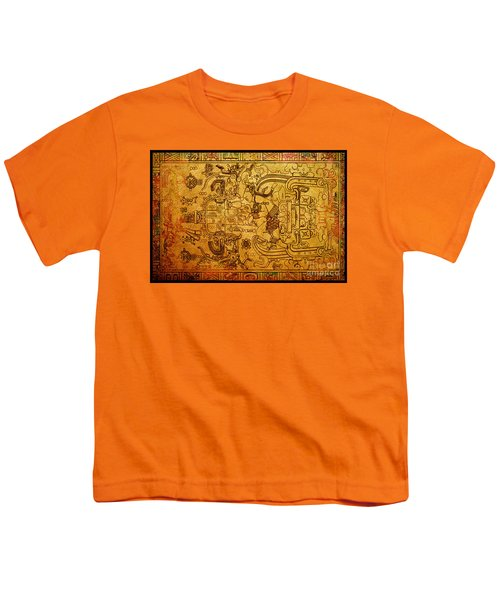 Youth T-Shirt featuring the photograph Pakal Sarcophagus Lid 4 by Gary Keesler