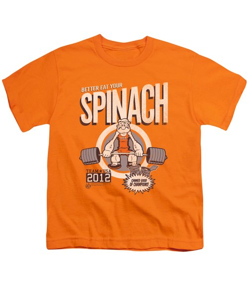 Popeye - Eat Your Spinach Youth T-Shirt by Brand A