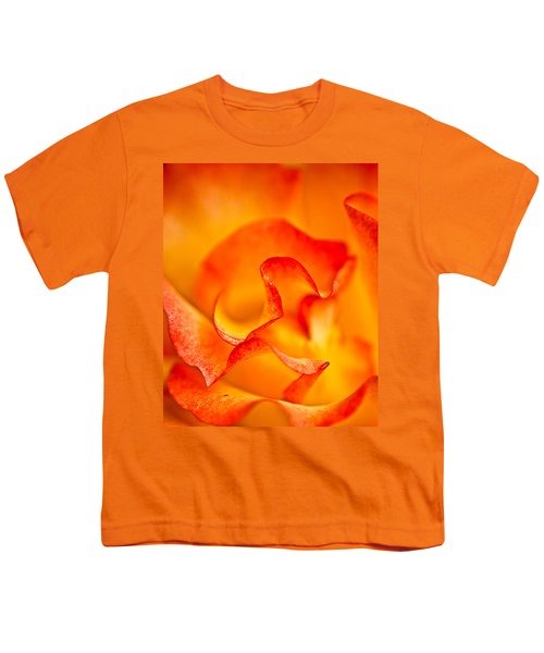Rose Petals Closeup Youth T-Shirt