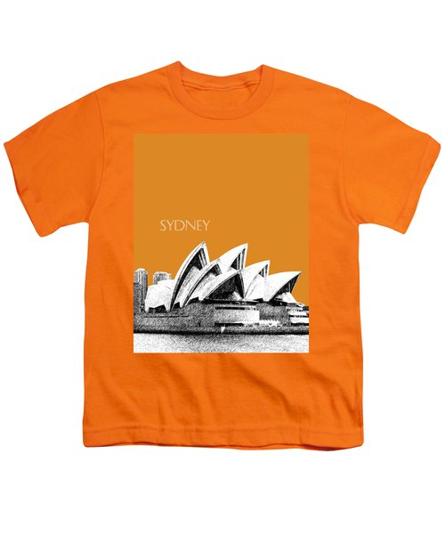 Sydney Skyline 3  Opera House - Dark Orange Youth T-Shirt