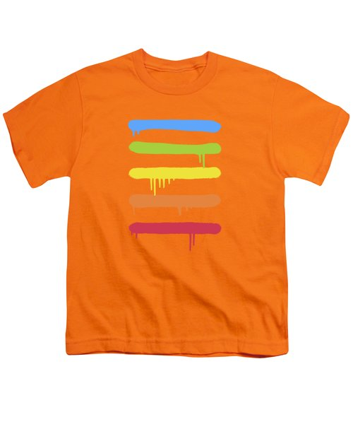 Trendy Cool Graffiti Tag Lines Youth T-Shirt