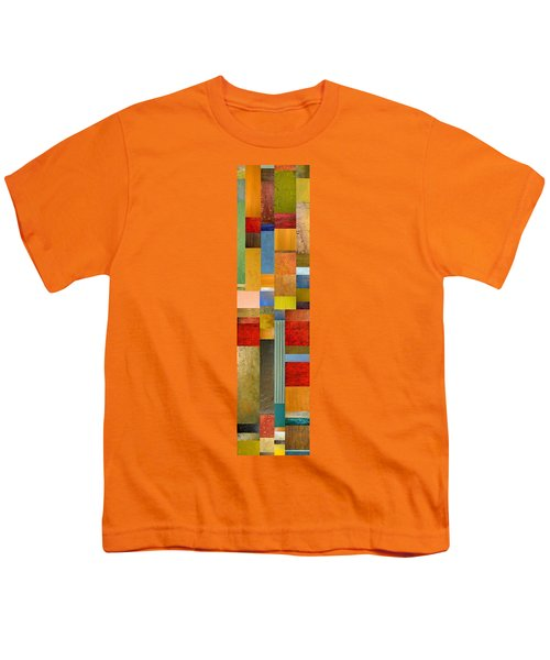Color Panels With Green Grass Youth T-Shirt