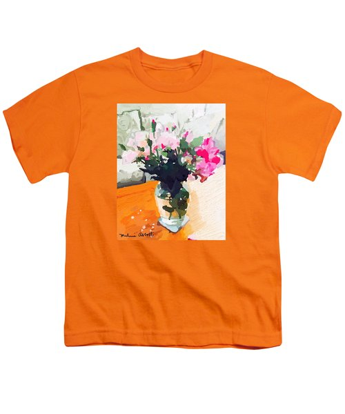 Roses In The Living Room Youth T-Shirt by Melissa Abbott