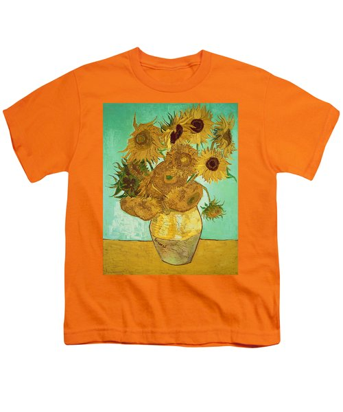 Sunflowers By Van Gogh Youth T-Shirt