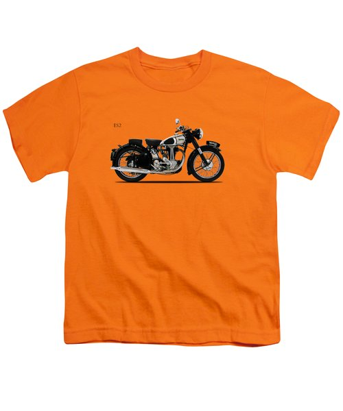 Norton Es2 1947 Youth T-Shirt by Mark Rogan