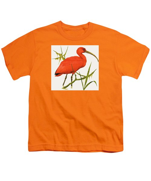 A Scarlet Ibis From South America Youth T-Shirt by Kenneth Lilly
