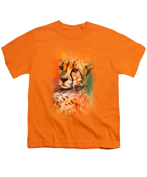 Colorful Expressions Cheetah Youth T-Shirt by Jai Johnson