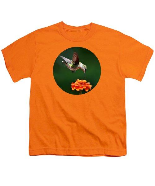 Hummingbird Bullseye Youth T-Shirt by Christina Rollo