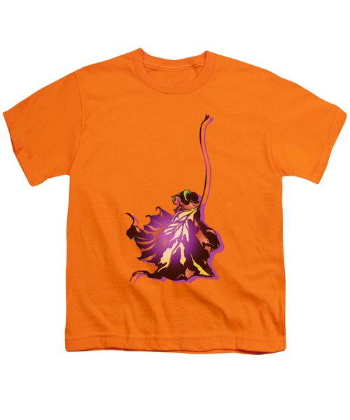 Autumn Sycamore Leaf Youth T-Shirt