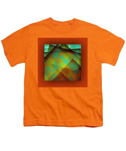 Youth T-Shirt featuring the digital art Color Package - Orange by Mihaela Stancu