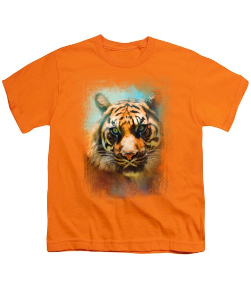 Colorful Expressions Tiger 2 Youth T-Shirt by Jai Johnson