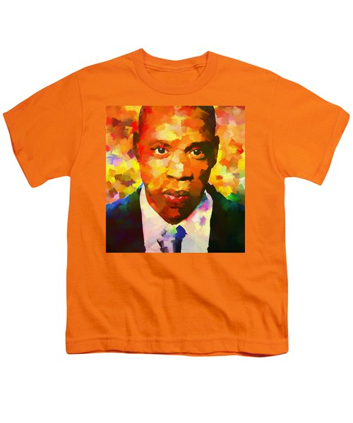Colorful Jay Z Palette Knife Youth T-Shirt by Dan Sproul