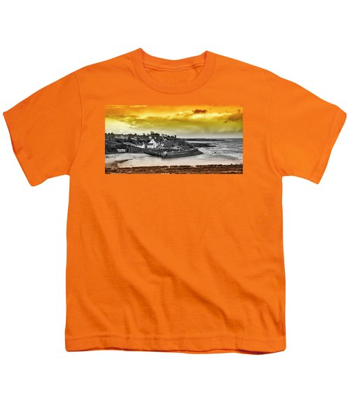 Crail Harbour Youth T-Shirt by Jeremy Lavender Photography