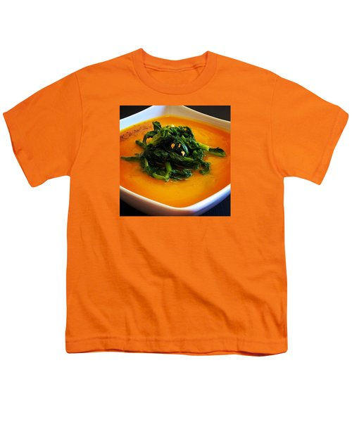 Cream Pumpkin With Broccoletti Sauteed Youth T-Shirt