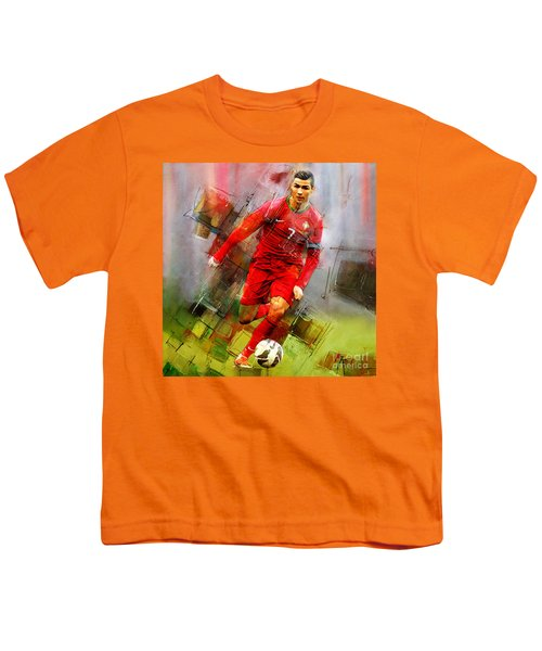 Cristiano Ronaldo  Youth T-Shirt by Gull G