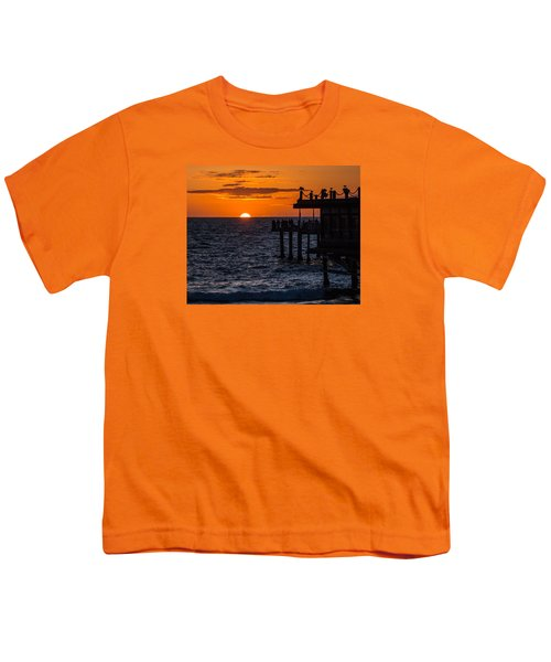 Fishing At Twilight Youth T-Shirt