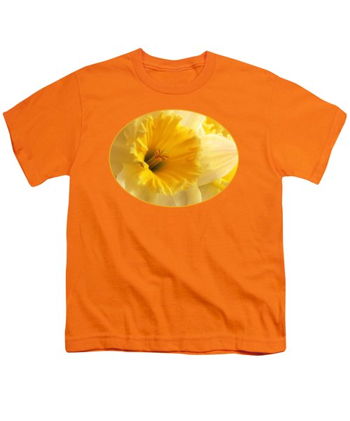 Focus On Spring - Daffodil Close Up Youth T-Shirt by Gill Billington