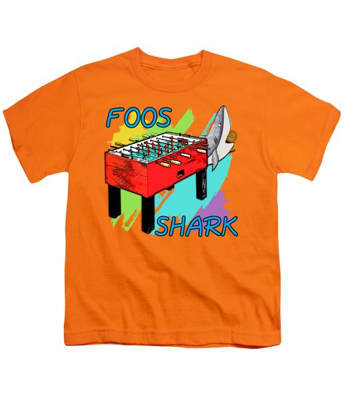 Foos Shark Youth T-Shirt by David G Paul