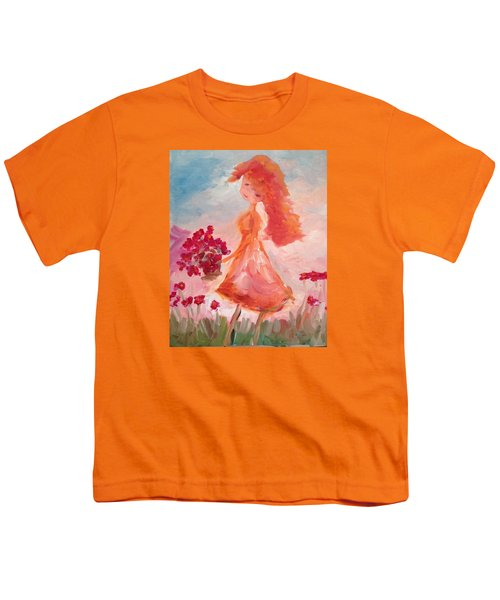 Girl With Poppies Youth T-Shirt