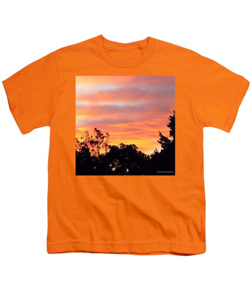 #halloween #morning #sky Is On #fire Youth T-Shirt